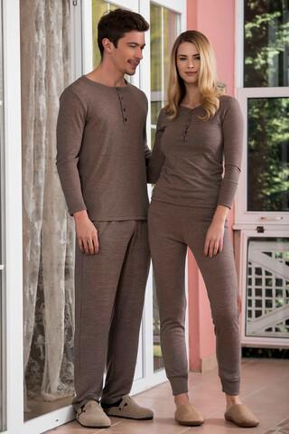 2'li Kaşkorse Süprem Erkek Pijama Takımı - Thumbnail