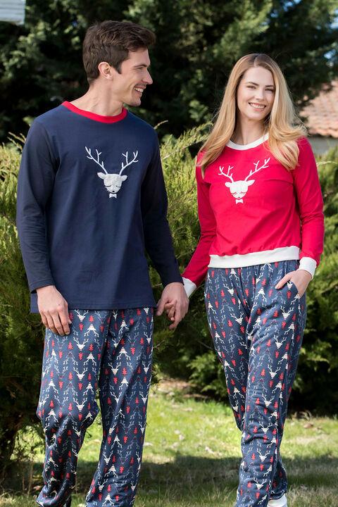 2'li Viskon Erkek Pijama Takımı