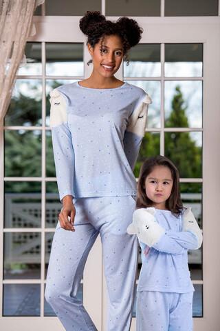 2'li Viskon Kadın Pijama Takımı - Thumbnail