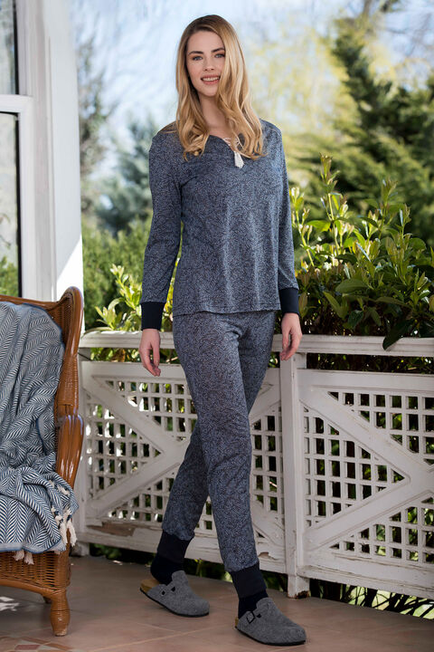 2'li Viskon Kadın Pijama Takımı