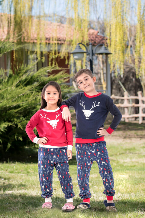 2'li Viskon Kız Çocuk Pijama Takımı