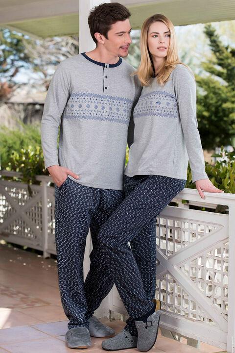2'li Viskon Süprem Erkek Pijama Takımı
