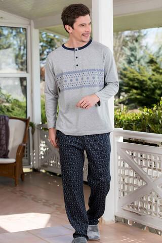 2'li Viskon Süprem Erkek Pijama Takımı - Thumbnail