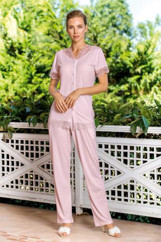 Kadın Pijama Viskon 3'lü Takım - Thumbnail