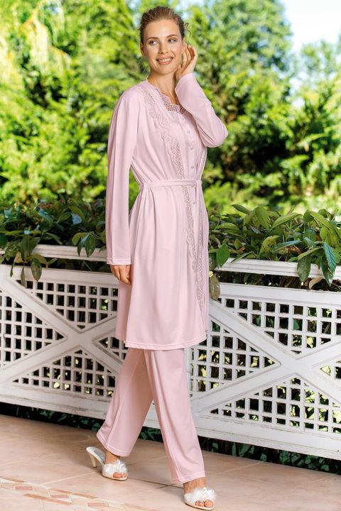Kadın Pijama Viskon 3'lü Takım