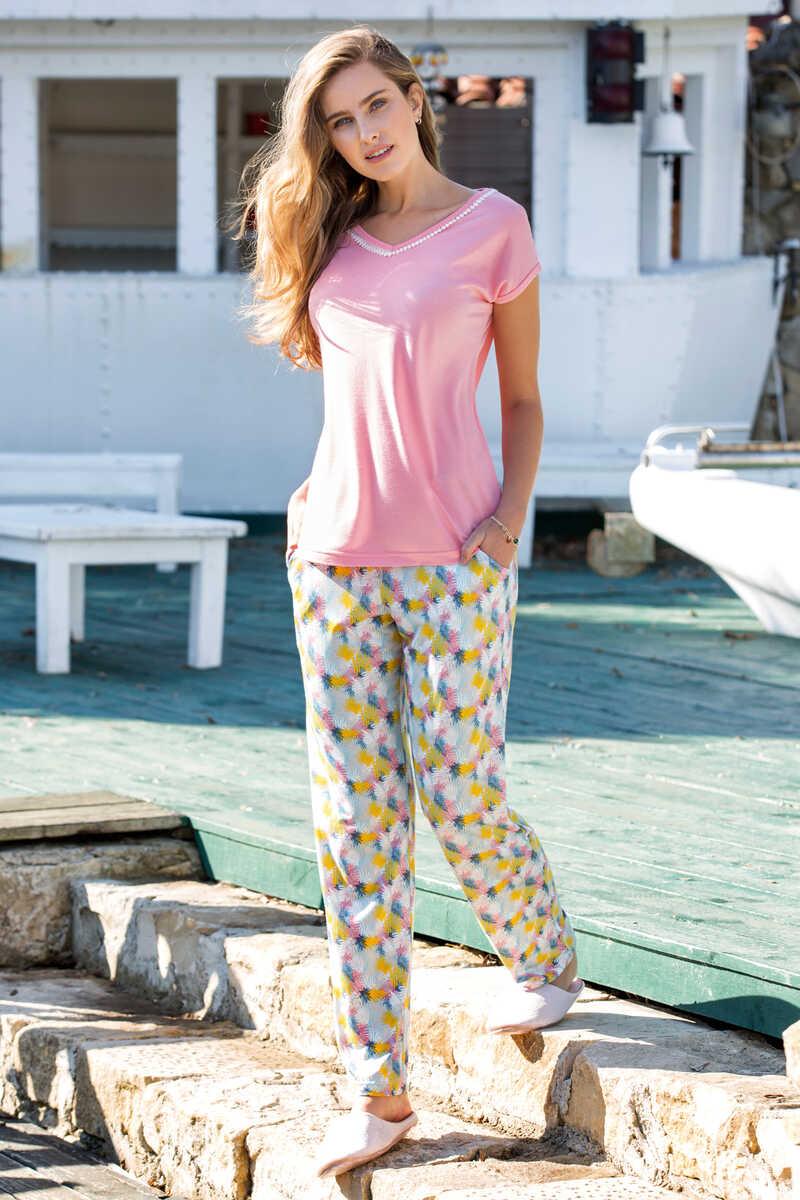 Kadın 3′lü Viskon Pijama Takımı