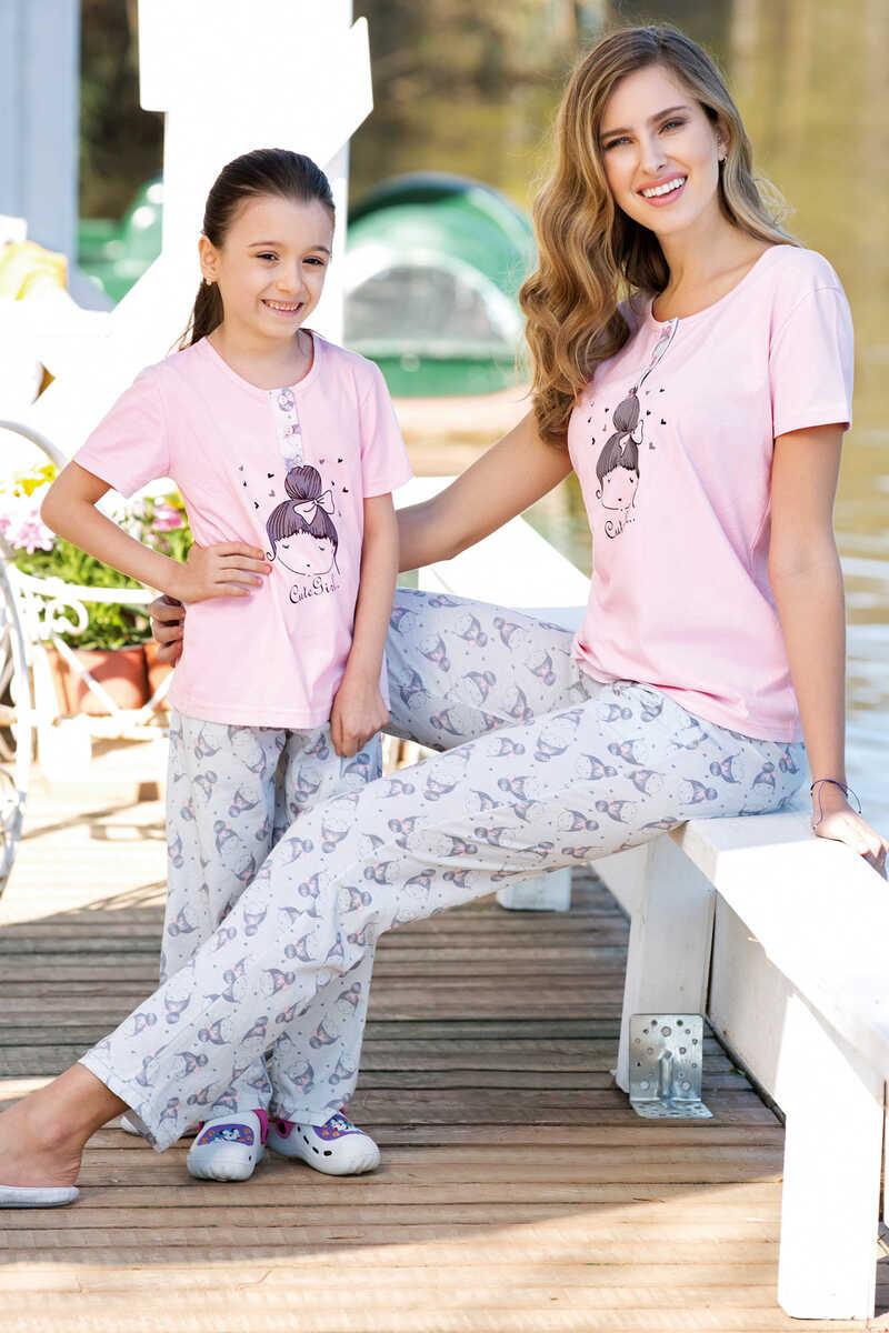 Kız Çocuk 2'li Pijama Takımı