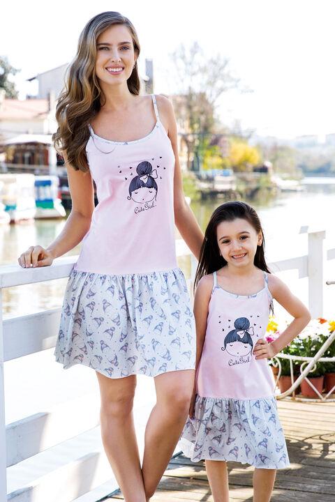 Kız Çocuk Desenli Pijama Takımı